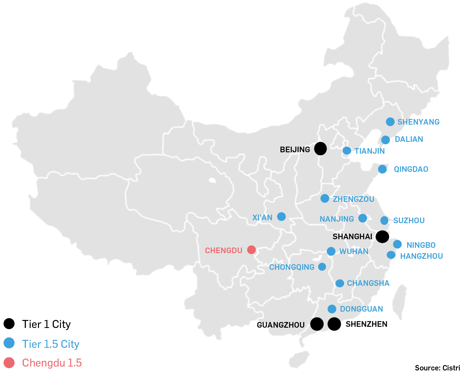 Cities within China